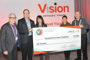 Canadian Breast Cancer Foundation Cheque