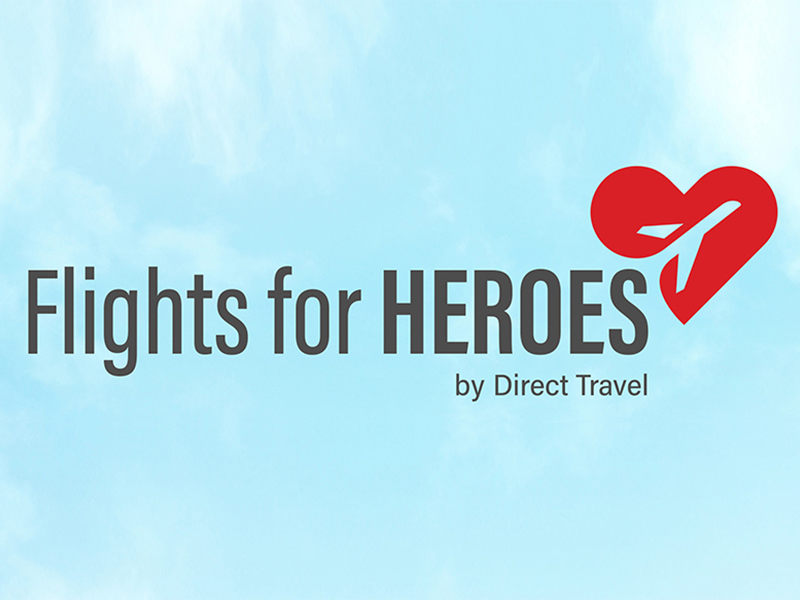 Direct Travel Awards 100 Healthcare Heroes with Flights