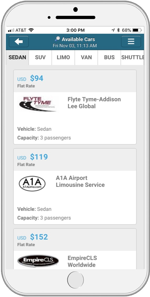 Car Service Results Mobile