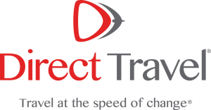 Direct Travel Logo with tagline